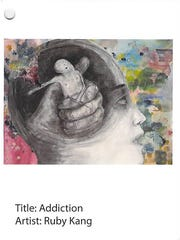 Addiction by Ruby Kang, a submission in a 2015 heroin and opioid awareness art contest sponsored by the U.S. Drug Enforcement Administration and addiction prevention advocates