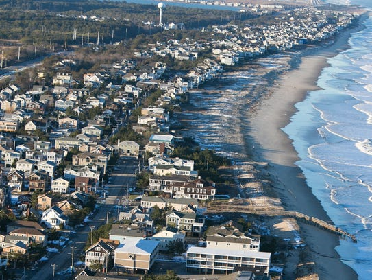Aerial view of the flood damage at Bethany Beach. Gov.