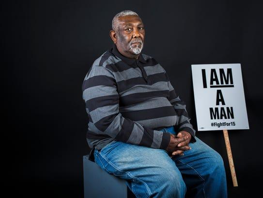Former sanitation worker Baxter Leach, 78, also did