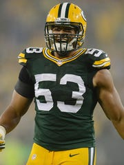 Green Bay Packers linebacker Nick Perry (53) celebrates