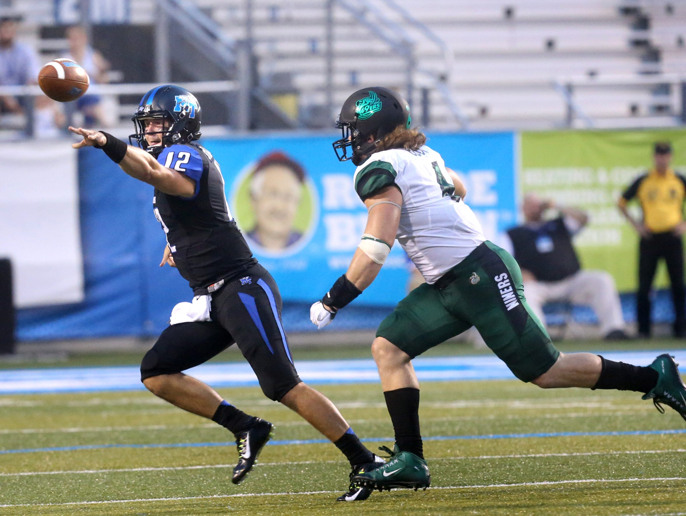 MTSU's Brent Stockstill (12) has thrown nine touchdowns