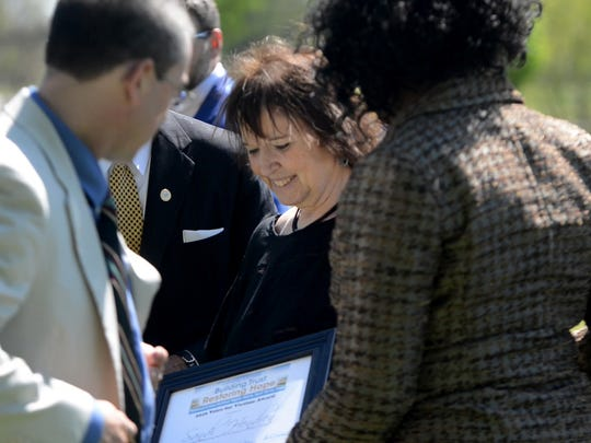 Sandi Hendren was honored Tuesday afternoon with the