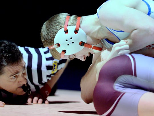 Spring Grove's Dalton Rohrbaugh is into the 113-pound
