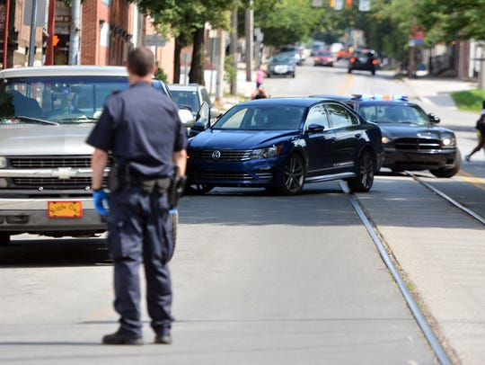 Police incident on N. Pershing Ave. in York, Wednesday,