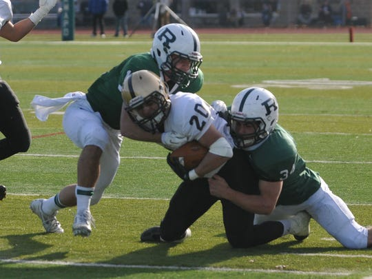 Ramapo vs. River Dell (pictured in a 2014 game) is one of North Jersey's best football rivalries.