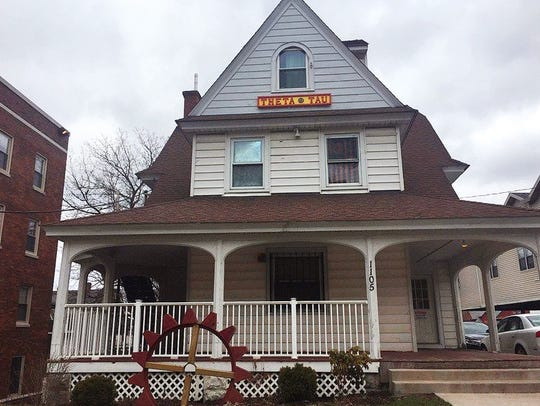 The Theta Tau fraternity house in Syracuse, N.Y.