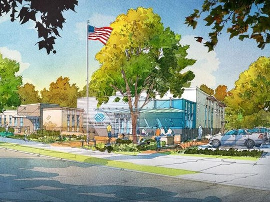KCDC has released this rendering of the improved Walter P. Taylor Boys & Girls Club proposed as part of Phase 3 of Five Points redevelopment.