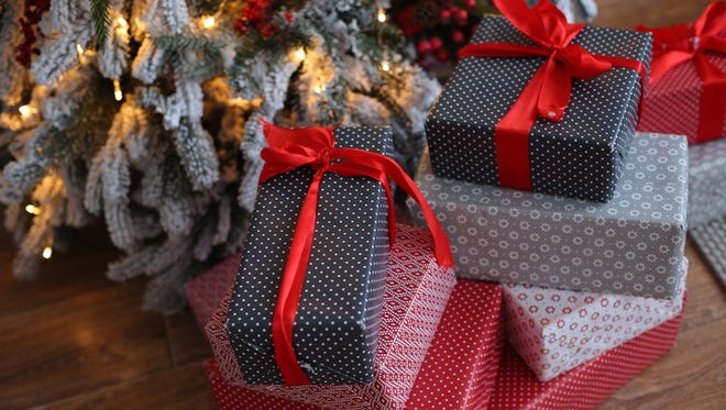 Christmas toys together with gifts
