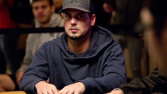 East Lansing's Adam Lamphere is playing in the World Series of Poker Main Event after a bad car accident in February.