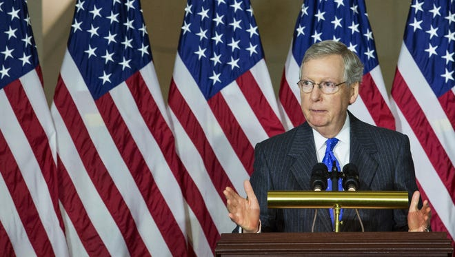 Incoming Senate majority leader Mitch McConnell, R-Ky.