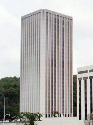 Capital Plaza Tower, which will be imploded.