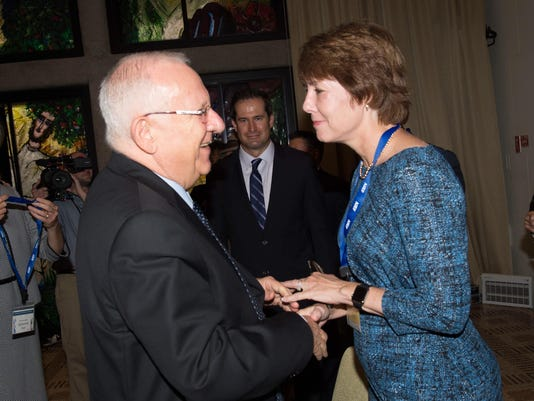 Graham with Rivlin