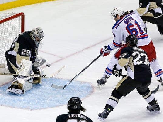 Rangers Penguins Game 2 2014 Nash Fleury