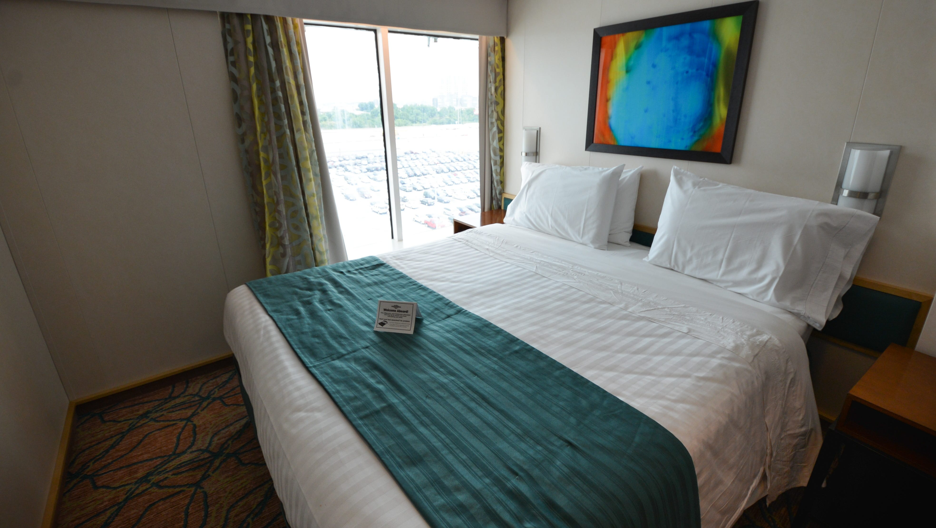 The makeover of the Grandeur of the Seas brought 16 new Panoramic Ocean View cabins that feature floor-to-ceiling windows.