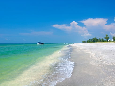 The sister islands are famous for their cache of shells washed ashore, often ankle-deep.