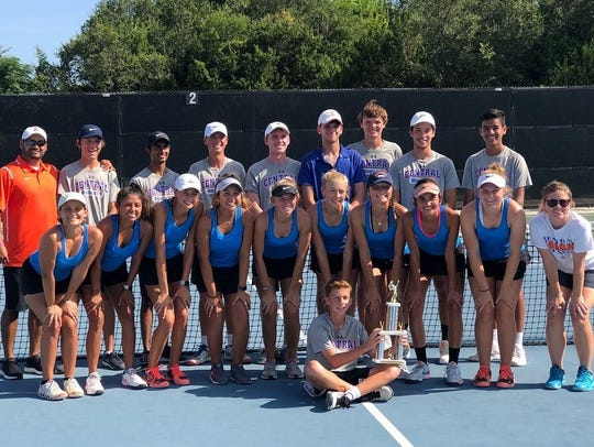 The San Angelo Central tennis team placed second as a team at the District 3-6A Tournament this past weekend.