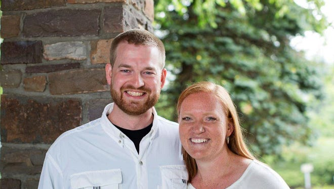 This undated photo provided by Samaritan's Purse shows Dr. Kent Brantly and his wife, Amber.