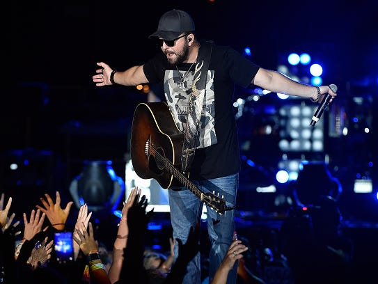 Recording artist Tyler Farr performs during the Route