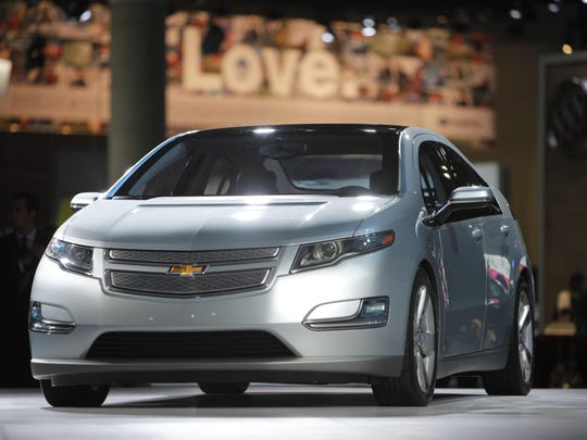 This Dec. 2, 2009 file picture shows the 2011 Chevrolet Volt during its debut at the Los Angeles Auto Show in Los Angeles.
