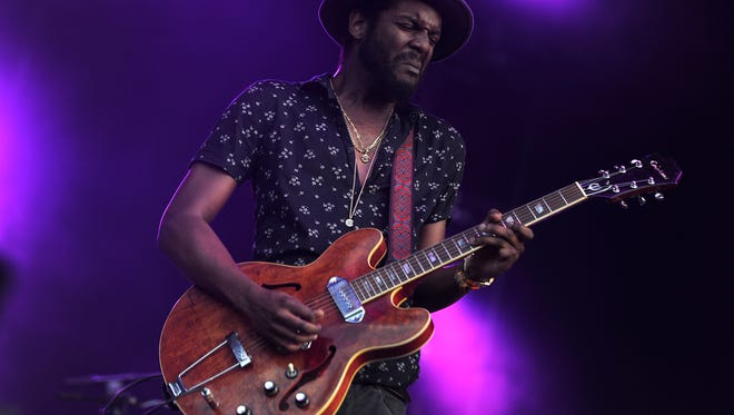 Gary Clark Jr. performs on the Which stage at the 2015 Bonnaroo Music and Arts Festival Saturday June 13, 2015 in Manchester, TN.