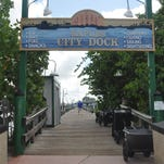 The Dock Restaurant has four boat slips for boaters who want to dock and dine.