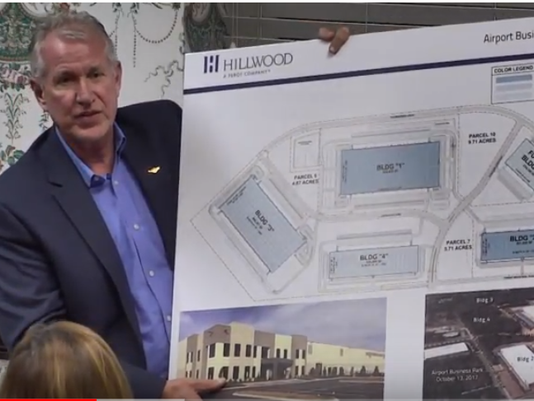 John Black shows off airport plan