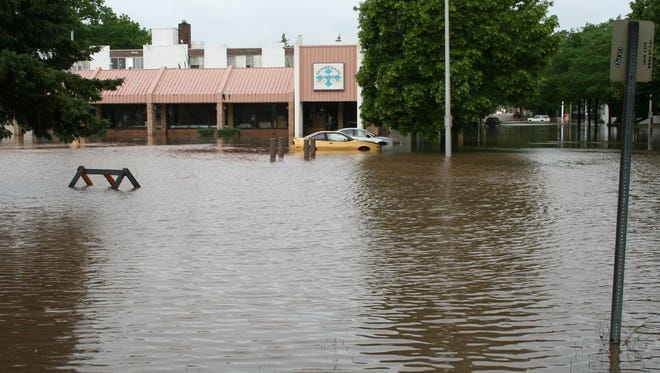 Flooding in the Richard & Sons Bakery on Forest Avenue in Fond du Lac the morning of June 13.