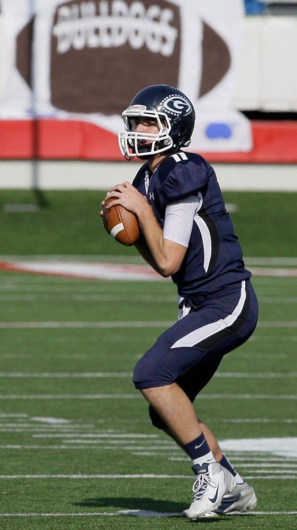 Greenwood High School quarterback Jabe Burgess looks