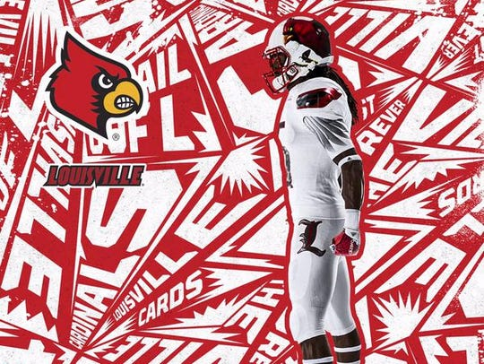 Adidas Louisville football uniform from the side, showing