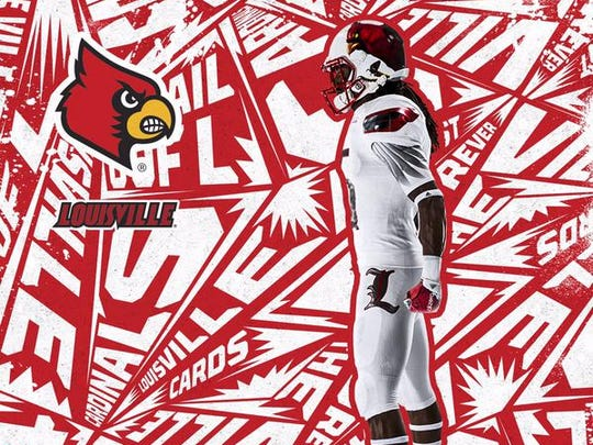 low priced 9c328 185a3 Louisville football uniforms unveiled by Adidas