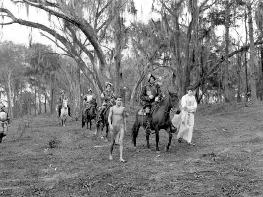 In 1967 Florida staged a reenactment of Tallahassee's first Christmas