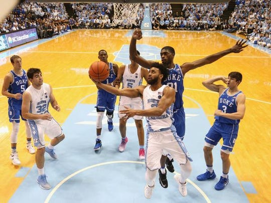 Joel Berry II (2) and North Carolina will be in Brooklyn along with Duke for the ACC Tournament.