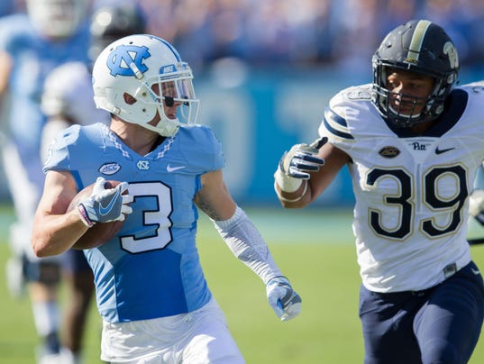 NCAA Football: Pittsburgh at North Carolina