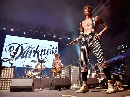 The Darkness will perform on April 29 at Old National Centre.