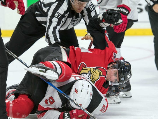 Feb. 7: Ottawa Senators right wing Alex Burrows was