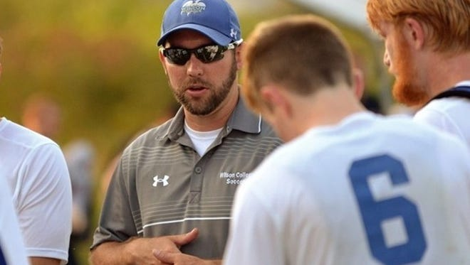 Caleb Davis takes over as the Wilson College women's soccer coach. He is also the head coach of the men's soccer team.
