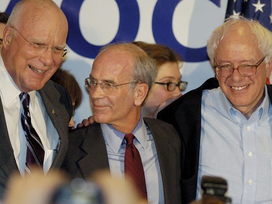 Vermont's congressional delegation, from left, Sen.
