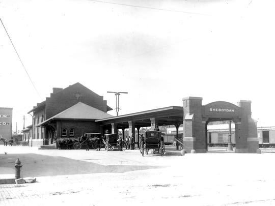 Sheboygan Railroad Depot, the setting off point for the newlyweds, Agnes Olson and William Bickel in December of 1900.