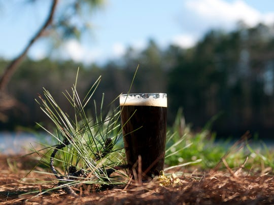 Pine Island Crude, a seasonal beer available at Red River Brewing in Shreveport.