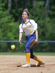 Pocomoke's Cristen Quillen in the circle against Snow