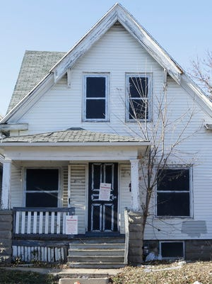 A vacant city-owned house where a sex assault of a 12-year-old girl was reported.
