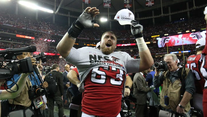 Ben Garland, the Falcons' do-everything Air Force graduate, could play key Super Bowl role