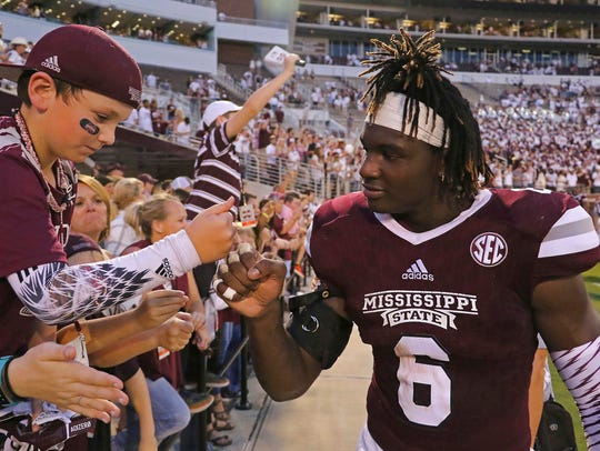 Mississippi State linebacker Willie Gay Jr. (6) does