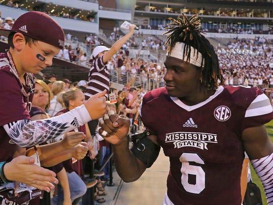 Mississippi State linebacker Willie Gay Jr. (6) does