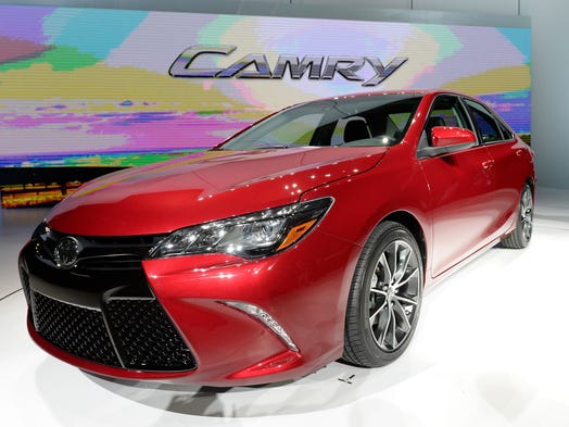 The 2015 Toyota Camry at the New York Auto Show.