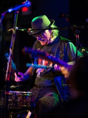 """Vini """"Mad Dog"""" Lopez performing with his band Dawg Whistle at the Stone Pony in May."""