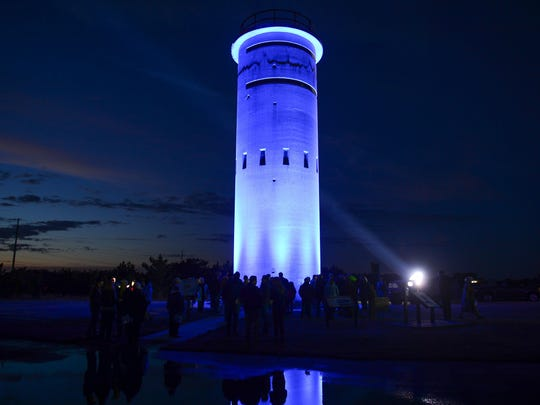 Tower 3 is a landmark concrete WWII fire tower that was used for Delaware's coastal defense. It is now surrounded with nine cobalt the park in just south of Dewey Beach on Monday, Feb. 12, 2018.