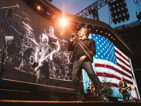 U2 is on tour with an LED video screen measuring 200