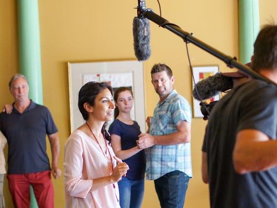 Meetu Chilana, center, is recorded in Glide Studios