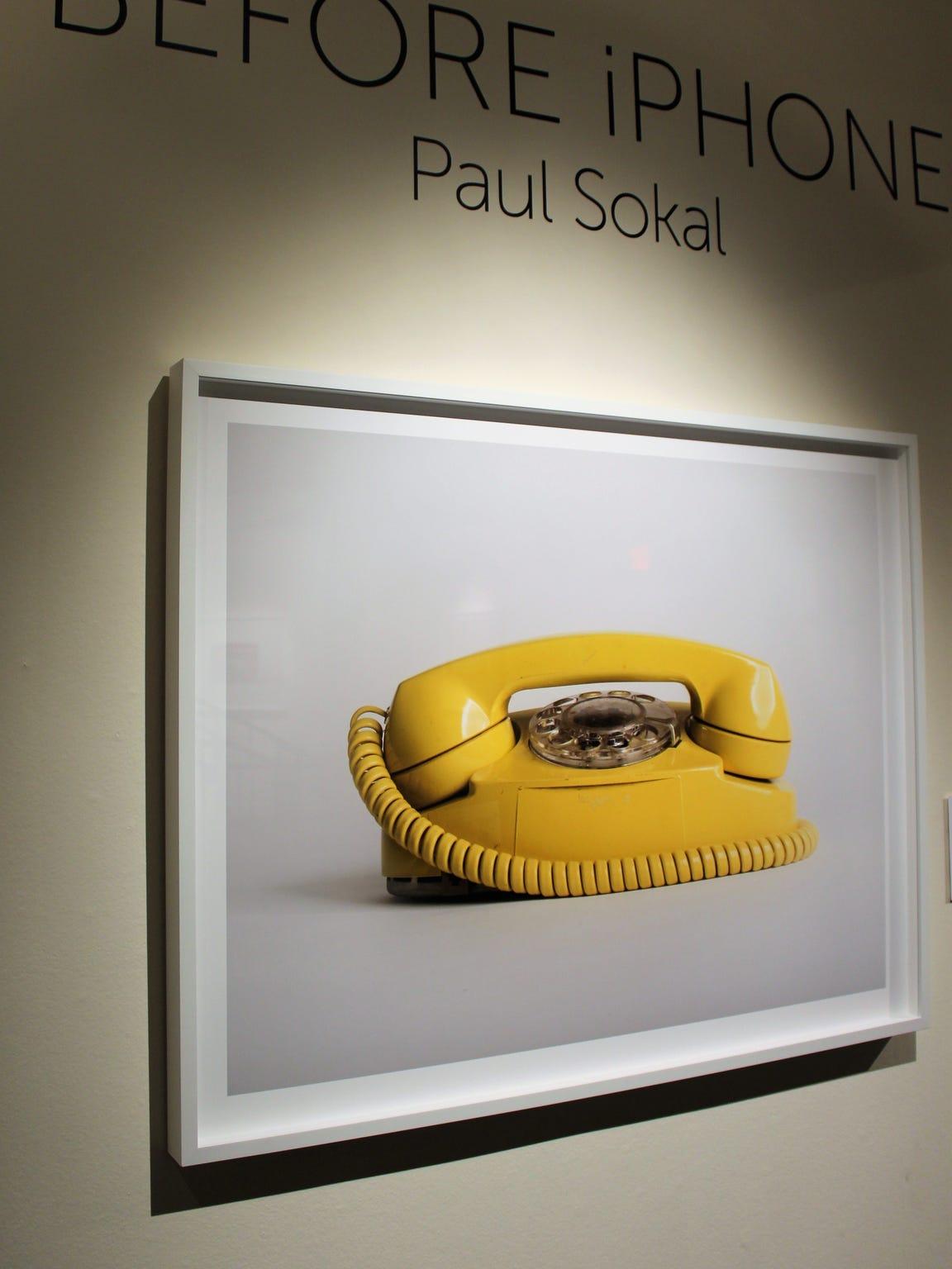 """Phone before iPhone"" is a 2017 digital print by Paul"